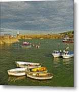 Mevagissey Outer Harbour Metal Print