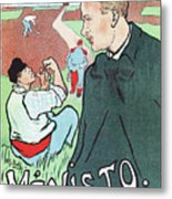 Mevisto In The Country French Theatre Ad Metal Print