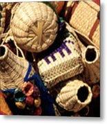 Mexican Baskets Metal Print