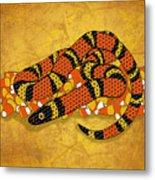 Mexican Candy Corn Snake Metal Print