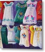Mexican Dresses Metal Print
