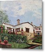 Mexican Hacienda After The Rain Metal Print