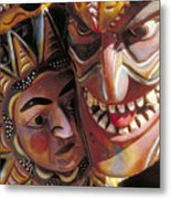 Mexican Masks Metal Print