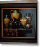 Mexican Pottery Metal Print