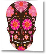 Mexican Skull Art Illustration Metal Print