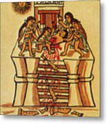 Mexico: Aztec Sacrifice Metal Print