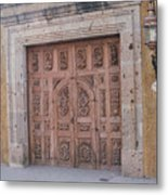 Mexico Door 1 By Tom Ray Metal Print