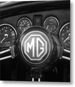 Mg Midget Dashboard Metal Print