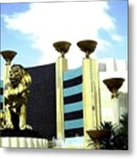 Mgm Lion In Las Vegas Metal Print