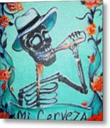 Mi Cerveza Metal Print by Heather Calderon