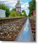 Mi New Haven Rail Road Reflections Metal Print