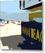 Miami Beach Work Number 1 Metal Print