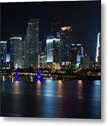 Miami Downtown Skyline Metal Print