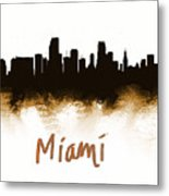 Miami Fla 2 Skyline Metal Print