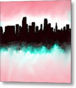 Miami Fla Skyline Metal Print