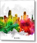 Miami Florida Cityscape 12 Metal Print