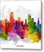 Miami Florida Cityscape 13 Metal Print