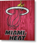 Miami Heat Barn Door Metal Print