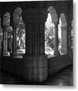 Miami Monastery In Black And White Metal Print