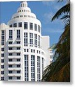 Miami S Capitol Building Metal Print