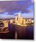 Miami Skyline 3 Metal Print
