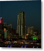 Miami Skyline Metal Print