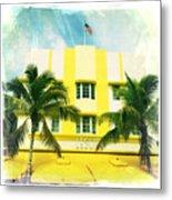 Miami South Beach Ocean Drive 2 Metal Print