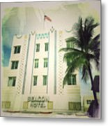 Miami South Beach Ocean Drive 3 Metal Print