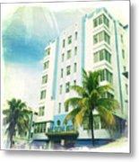 Miami South Beach Ocean Drive 4 Metal Print