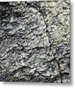 Mica Stone Detail With Crack Metal Print