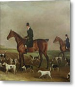 Michael Beverley With His Whipper In And Harriers Metal Print