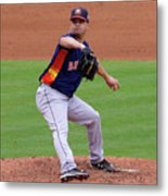 Michael Feliz Houston Astro Pitcher Metal Print