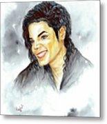Michael Jackson - Smile Metal Print