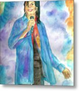 Michael Jackson - The Final Curtain Call Metal Print by Nicole Wang