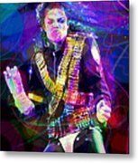 Michael Jackson '93 Moves Metal Print by David Lloyd Glover
