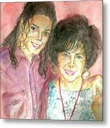 Michael Jackson And Elizabeth Taylor Metal Print by Nicole Wang