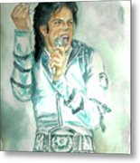 Michael Jackson Bad Tour Metal Print by Nicole Wang
