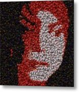 Michael Jackson Bottle Cap Mosaic Metal Print by Paul Van Scott