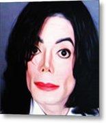 Michael Jackson Mugshot Metal Print by Bill Cannon