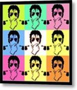 Michael Jackson Pop Metal Print by Paul Van Scott