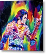 Michael Jackson Showstopper Metal Print by David Lloyd Glover