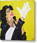 Michael Jackson The Hand Metal Print