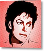 Michael Jackson - Thriller - Pop Art Metal Print