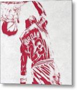 Michael Jordan Chicago Bulls Pixel Art 1 Metal Print