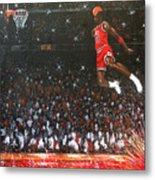 Michael Jordan Custom Painting Metal Print