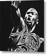 Michael Jordan  Metal Print by Don Medina