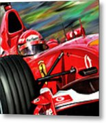 Michael Schumacher Ferrari Metal Print by David Kyte