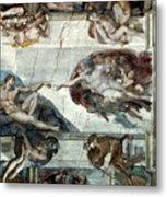 Michelangelo: Adam Metal Print