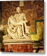 Michelangelo Masterpiece Of A Mother's Love Metal Print
