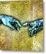 Michelangelo's Creation Of Man Metal Print